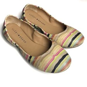 Lucky Brand Emmie Earthtone Watercolor Flats